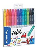 Pilot - FriXion Colors - Feutre - Set de 12 - Couleurs assorties - Pointe Moyenne