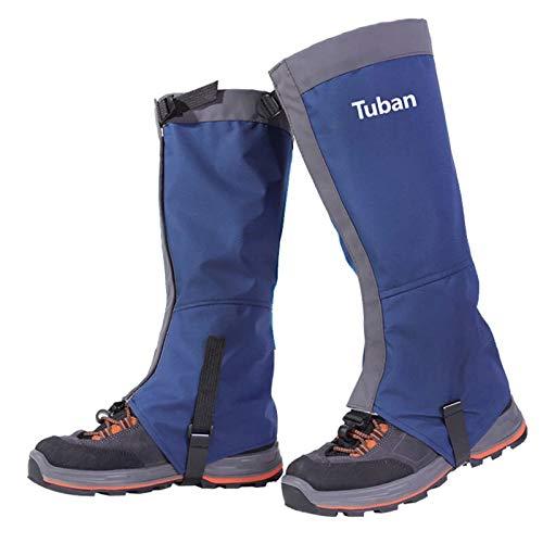 NEVRTP wasserdichte Skischuhe Gamaschen, reißfester Schuhschlauch für Männer und Frauen beim Wandern im Freien, Skifahren, Schneeschuhe, Verstellbarer Camping-Wanderschuh (M, Blau)