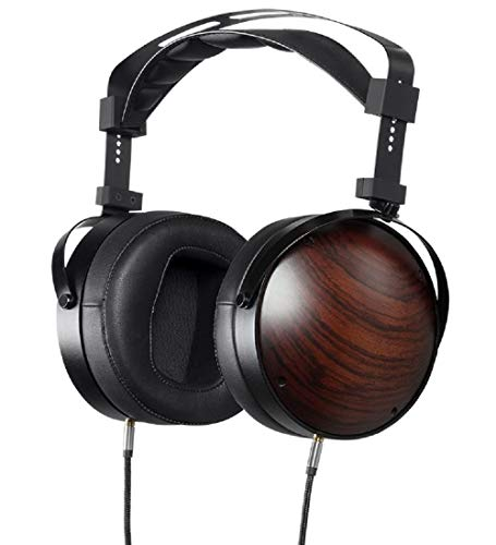 MONOPRICE Monolith M1060C Over Ear Planar Magnetic Headphones - Black/Wood With 106mm Driver, Closed Back Design, Comfort Ear Pads For Studio/Professional