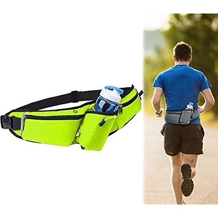 Wasserdichter Laufgürtel Taille Beutel Gürteltasche Sport Trekking Grün