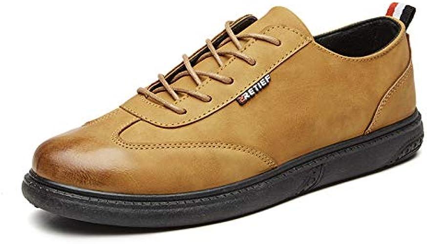 LOVDRAM Chaussures en Cuir pour Hommes Printemps Et Eté Nouveaux Chaussures Décontractées pour Hommes Fashion Low pour Aider Les Chaussures pour Hommes Chaussures De Marée Chaussures De Mode