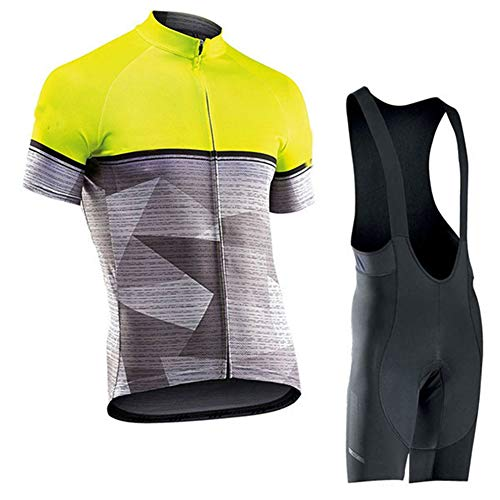 Hi!Hi Traje Ciclismo Hombre,Maillot Ciclismo + Culotte Bicicleta Transpirable Elástico Secado Rápido