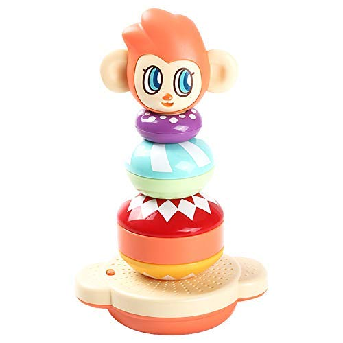 Kidian Stacking Toys - Mon Mon The Rainbow Stacker, Baby Stacking Toy, Toddler Stacking Toy, Musical Stacking Toys for Toddlers 1-3 by Flybar