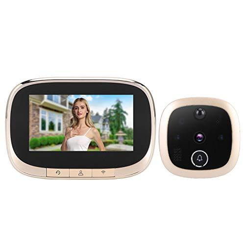 Visor de puerta del intercomunicador del timbre del video del teléfono de la puerta resistente a la corrosión en tiempo real a todo color para el hogar