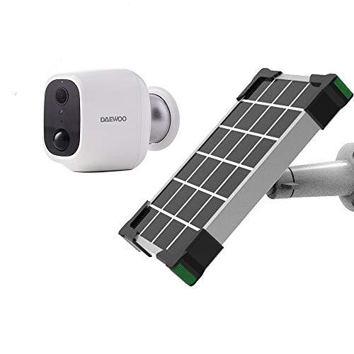 Daewoo W501 - Cámara de vigilancia Independiente para Interior y Exterior con Panel Solar