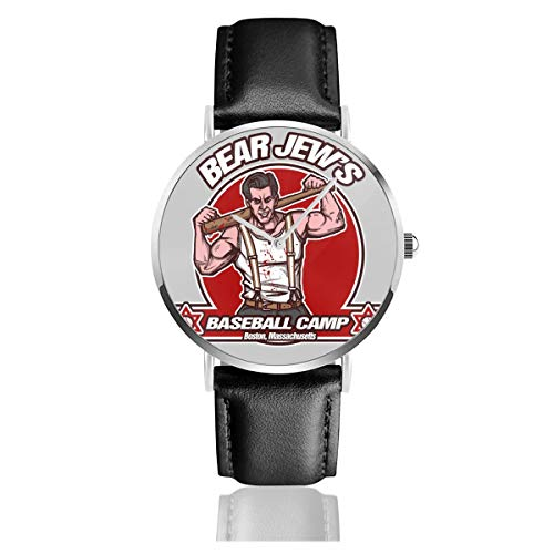 Unisex Business Casual SGT Donny Donowitz The Bear Jude Baseball Camp Inglourious Basterds Uhren Quarz Leder Uhr mit schwarzem Lederband für Männer Frauen Young Collection Geschenk