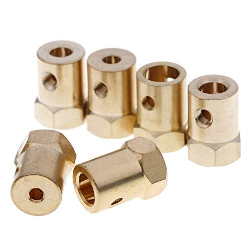 VOFP motor coupler 1pc 3/4/5mm Hole Diameter Motor Flexible Coupling Coupler (Color : A3 5mm)