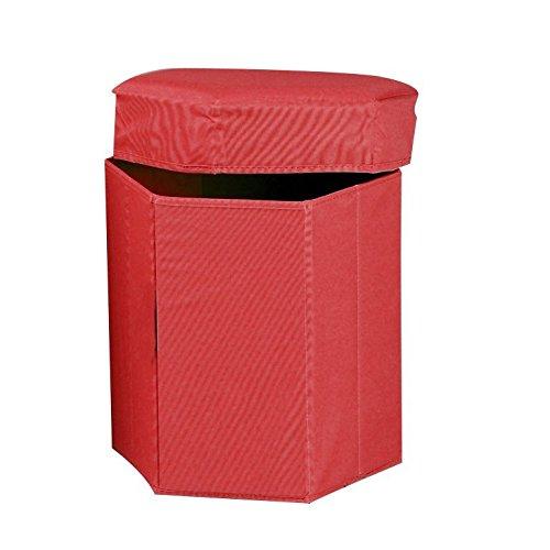 ParmaAffari Pouf Rosso puf Baule Contenitore poggia Piedi cubo Pieghevole salvaspazio 38 x 38 x 38