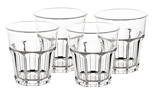 Wasserglas Polycarbonat Trinkglas 4 Stk. 250ml.