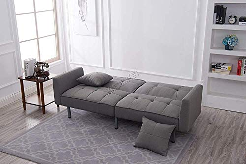 Practical 3-seater fabric sofa bed, armchair (Grey)