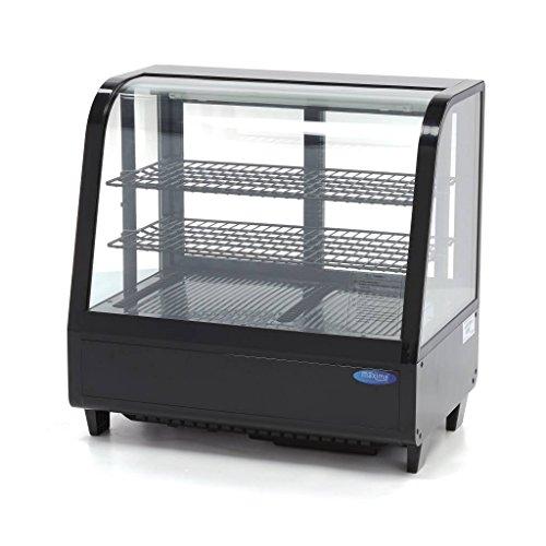 Vitrina de refrigeración 100 L, color negro