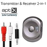 Avantree Saturn Pro Récepteur et émetteur Audio Bluetooth avec Technologie aptX à Faible Latence, Adaptateur 2 en 1 pour Streaming de Musique ou pour Regarder la télévision sans Fil