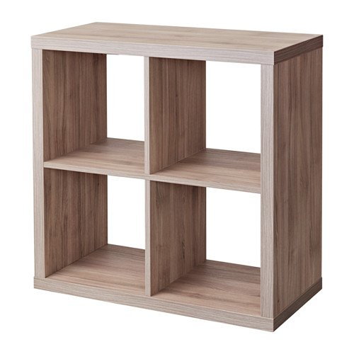 Ikea Kallax Bookcase Shelving Unit Display Black Brown Modern Shelf