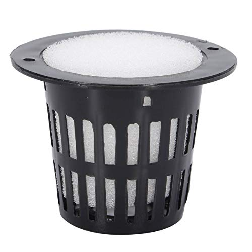10s Mesh Pot Net Cup Basket Hydroponic System Garden Plant Grow Vegetable Cloning Foam Insert Seed Germinate Nursery Pots
