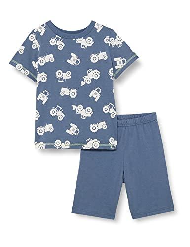 Sanetta Jungen Schlafanzug kurz blau Pyjamaset, Bering sea, 92