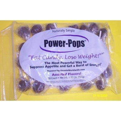 Bag of 30 Power Pops 'Grape Flavor' Diet Hoodia Candy Suckers Lollipops Supress Appetite! Seen on TV!!!!!