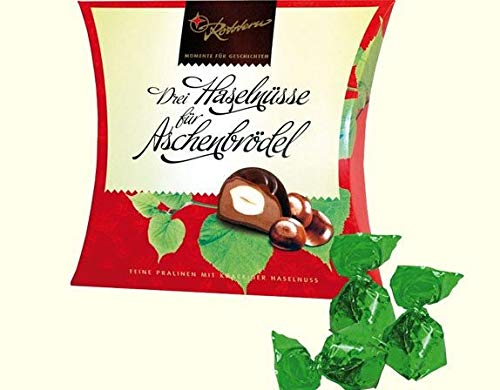 Rotstern Drei Haselnüsse für Aschenbrödel Pralinen - Ossi Produkte