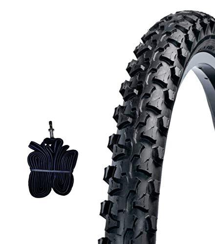 EBB20MAS 1 COPERTONE Nero + 1 Camera d'Aria 20 X 1.90 (50-406) MTB Mountain Bike Bici Bicicletta