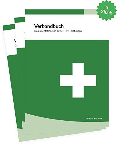 3er SET - Sparpackung - Verbandbuch Stand 2019 - DIN A5 + doppelte Seitenanzahl GRÜN