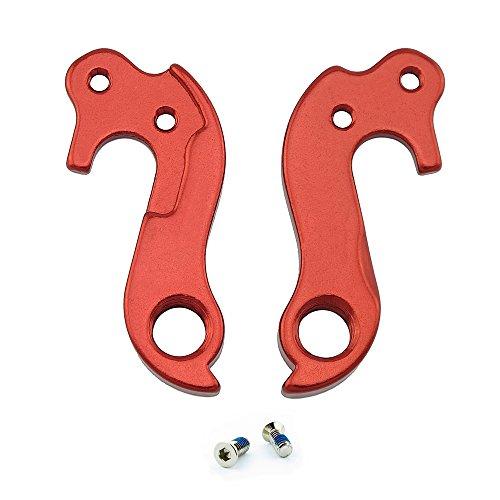 Noah And Theo NT-HD026 Schaltauge für horizontale Ausfallenden, kompatibel mit Felt #123 oder 10123, inkl. Schraubensatz, Satin-Rot Passt auch auf Lynskey und andere Rennräder.