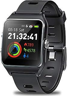 DR.VIVA Reloj GPS para Hombres Mujeres, Seguimiento de Actividad GPS Running Reloj de Pantalla Táctil Deportes Reloj de Ritmo Corazón/Sujeción/Contador Monitor Impermeable GPS Fitness Reloj