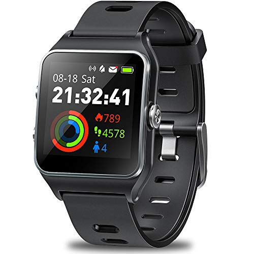 GPS Watch for Men Women, Activity Tracker GPS Running Watch Touch Screen Smart Watch Heart Rate/Sleep/Step/Counter Monitor Sports Watch with 17 Sport Mode