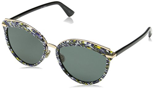 Dior DIOROFFSET2 2K 9N7 Gafas de sol, Azul (Bluette Black/Grey Ar), 57 para Mujer