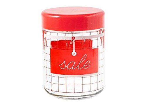 H & H Pengo 264811 bloempot Sale Cucina, 770 C, rood/transparant