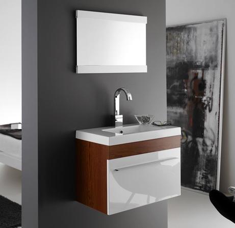 Badkamermeubel, wastafel en spiegel model Bremen zonder montage