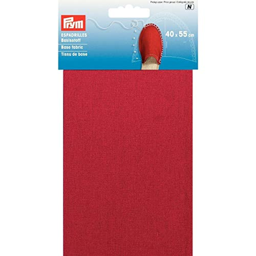 PRYM 40 x 55 cm 0,22 m SQ espadrilles basis stof, rood
