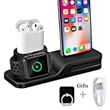 Wonsidary Apple Watch Stand, 3 in 1 Universal Silicone iWatch/iPhone/Airpods Holder Charging Docks Station for Apple Watch Series 3 2 1 AirPods iPhone X 8 8 Plus 7 6 iPad Mini
