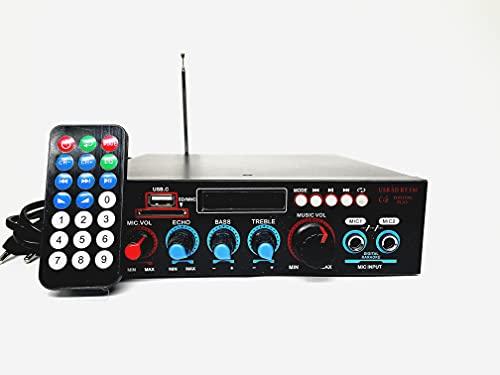 Amplificatore Bluetooth, Mini Amplificatore Stereo Audio Hifi Bluetooth,Karaoke Mixer,Hi-Fi Digital Amp 2.0 Channel 50W+50W con Ingresso USB/RCA/Scheda SD/per Casa, Auto Audio,Audio Speaker