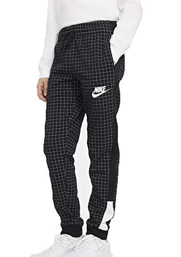 NIKE B NSW RTLP FT FLC Pant Pantalones de compresión, Black/Black/White, M para Niños