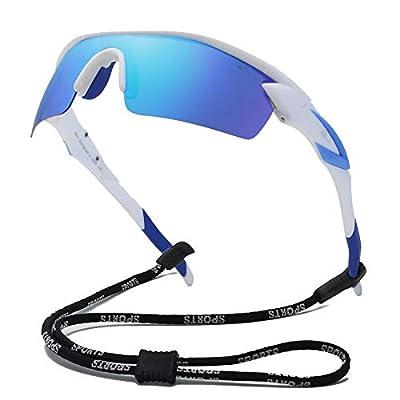 Bevi Polarized Sports Sunglasses TR90 Unbreakable Frame for Men Women Running Cycling Fishing Golf Baseball TPH2C3
