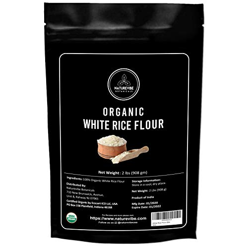 Naturevibe Botanicals White Rice Flour - 2lbs | Non GMO and Gluten Free (32 ounces) [Packaging may vary]