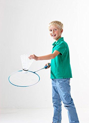 RCEE GmbH XXL Riesen Badminton Set Federball Set Jumbo Tennis für den Garten