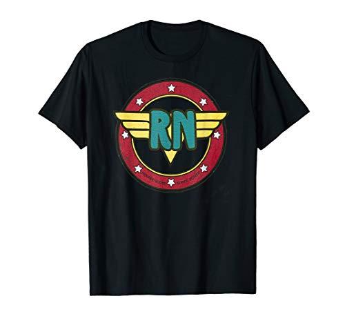 Vintage Wonder Nurse RN Superhero Distressed Tshirt