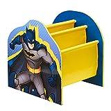 Batman Bibliothèque à Pochettes Rangement de Livres pour Chambre d'Enfant, Bleu, (H) x 39,5cm (W) x 35cm (D)