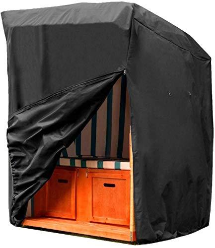 Swing Chair Cover, Dakbedekking Rieten Strandstoel Beschermende Cover 420D Oxford Stof Rip-Proof, UV & Waterbestendig -36 Maand Garantie 135 x 105 x 175cm YZJL827