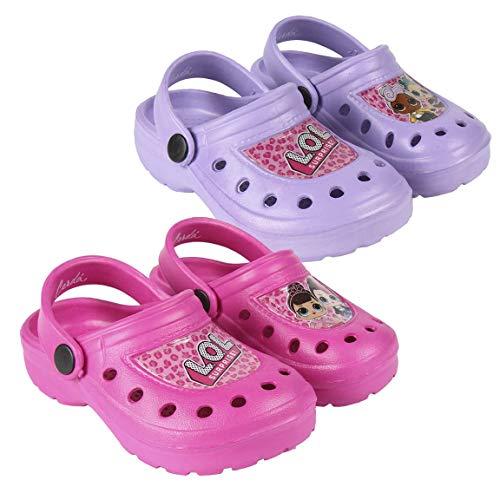 Cerdá Zuecos LOL, Zapatos de Playa y Piscina para Niñas, Lila, 33 EU