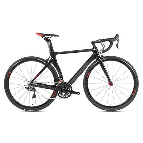 Yinhai Fahrräder Shimano UT R8000 22-Gang Rennrad 700C Räder Rennrad Doppel-V-Bremse Fahrräder,Black 52cm