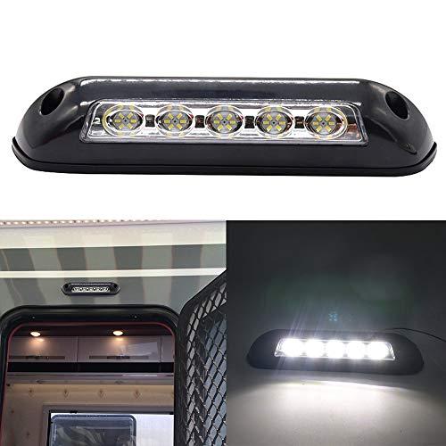 Luces de toldo RV,Tickas 12v rv led toldo porche luz impermeable interior lámparas de pared barra de luz para autocaravana caravana rv van camper