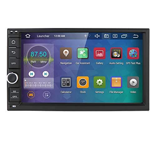 hizpo 2din Android 10 Universal Autoradio 7 Zoll Multimedia Player 64 GB + 4 GB Car GPS Navigation Bluetooth WiFi Hotspot DAB + Subwoofer USB SD