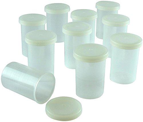 Unconventional Panda Transparente Filmdosen - Stabiler Kunststoff - für Geocaching oder Kleinteile (100 Stück)