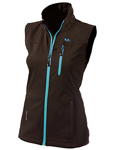 Ultrasport Damen Softshell Weste Athina, Black/Turquoise, XL