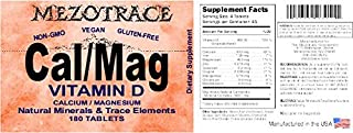 Calcium/Magnesium Minerals and Trace Elements W/Vitamin D 180 Tablets