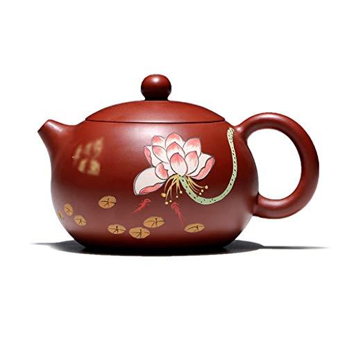 WangKuanHome Teteras Pintado A Mano Púrpura De Arena Tetera Patrón Exquisito Té Tetera Tetera Teteras Pot Tea Pots Tetera Tetera Mini (Color : Red, Size : 320cc)
