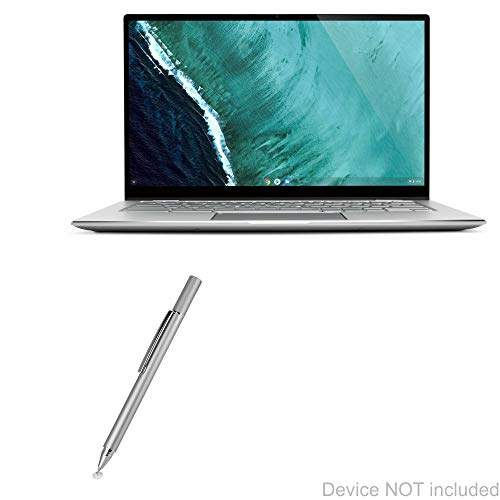 ASUS Chromebook Flip C434 Stylus Pen, BoxWave [FineTouch Capacitive Stylus] Super Precise Stylus Pen for ASUS Chromebook Flip C434 - Metallic Silver