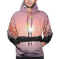 君の名は (4) メンズ レディース 保温する フード付き 長袖パーカー カジュアル スウェット コットン プルオーバー 柔らかく快適 冬服