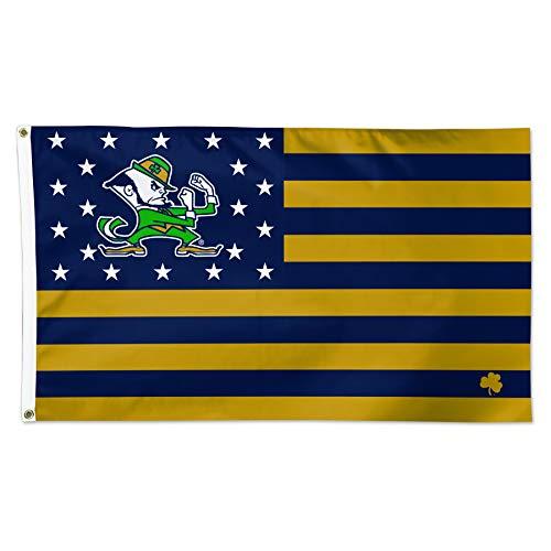 WinCraft Notre Dame Fighting Irish American Flag NCAA Football 3 x 5 Foot Flag